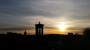 Sunsetting over Calton Hill