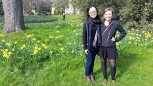 My friend Meghan and I greeting the spring!