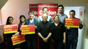 The Labour campaign team to re-elect Gordon Banks! He has served as an MP for the past 10 years already!