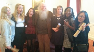 My teacher/Parliamentary program coordinator, Paddy, and the girls from my flat!