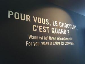 Le chocolat, c'est quand? C'est toujours Cailler, always.