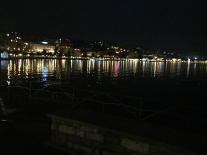 We got to see the beautiful city of Lugano at night as we scrounged for food.