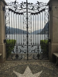 While the scenery wasn't o great in the rain, I was still struck by some of the beautiful little things, like this gate. It's so cool how the different regions of Switzerland (French, German, and Italian) all have their own personal style.