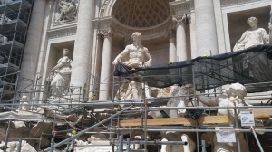 Rome: The Trevi Fountain (under construction)