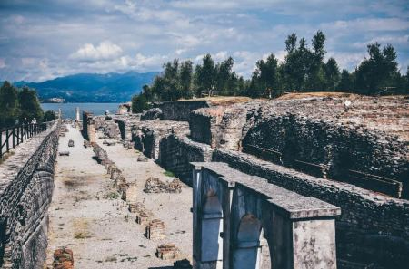 The Roman villa is probably the best point to have a panoramic view of Lake Garda. We held our breath, admiring the view of the turquoise blue lake and the architectural wonder at the same time.
