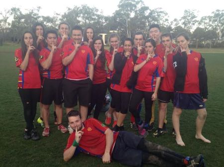 The USYD Quidditch Society at the September Triwizard Tournament at Australian National University! Our team name is the Unspeakables, and so we take this picture after every tournament. We may have gone 1-3, but we looked pretty fierce doing so.