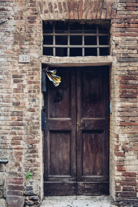 Typical door in Siena
