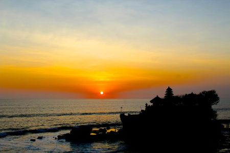 Our final hours in Bali were spent watching the sun set at the renowned Tanah Lot Temple.