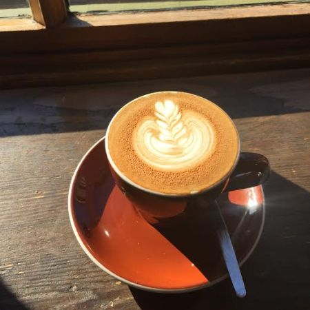 A flat white from the coffee shop where I first tried Australian coffee, Campos in Newtown.