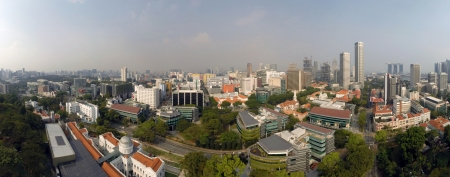 A panorama of SMU's campus. This photo was taken from Wikipedia.