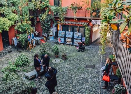 Hidden garden in Navigli