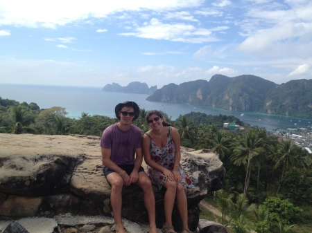 Billy and I at the 'Overlook' in Koh Phi Phi, a Southern Thai Island.