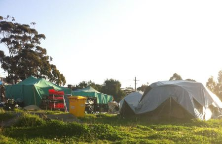 The Redfern Aboriginal Tent Embassy, captured in July 2015.