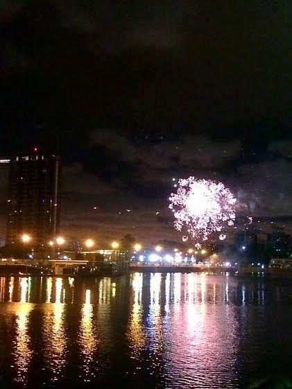 Also on Sunday night, I went out to dinner with my friend Ben's family in Puerto Madero (now checked off my to-do list). At the end of dinner and after the long election day, fireworks lit up over the river to celebrate Macri's victory.