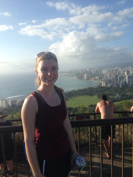 At the top of the Diamond Head Trail