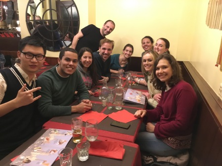 To celebrate the end of the vacation class, we all went out to an authentic Swiss restaurant in front of Lausanne's cathedral.