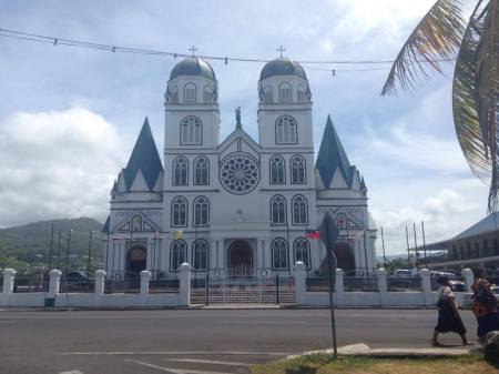 The newest Catholic Church in Samoa