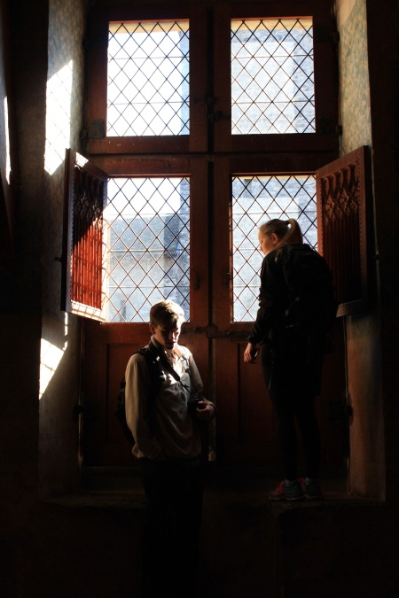 My friends and I took a self-guided tour throughout the castle, which really meant looking for the best windows and towers from which to take pictures.