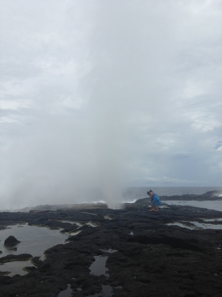 Peering into the blowhole