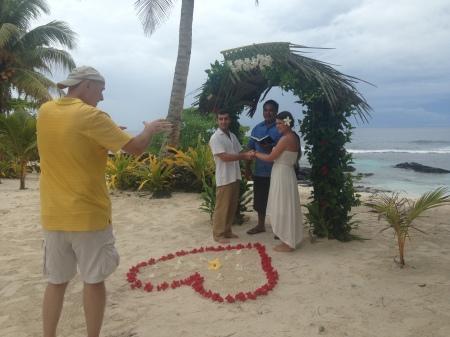 Capturing the wedding vows