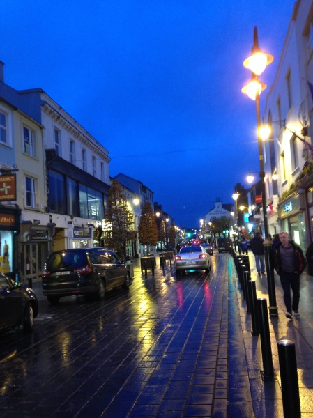Once again I don't have a picture of the interesting person we just discussed, so here is a picture of downtown Killarney.