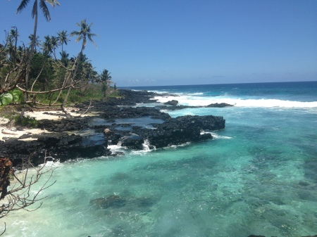 The coastline by the Return to Paradise