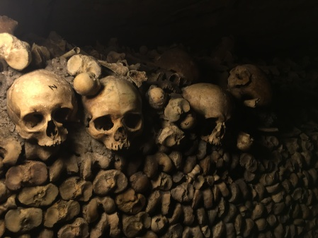"""The Catacombs are the unfortunate consequence of the king's order to essentially uproot a cemetery. There are so many bones--so many former bodies that make up the catacombs, but you are almost immediately desensitized to death upon entering. The walls even have funny quotes on the wall, such as """"Sometimes death is more advantageous than living."""""""