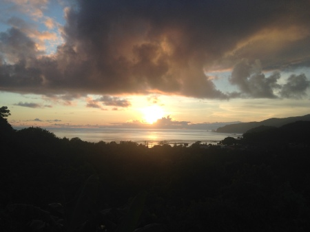 Sunset from my host family's hilltop retreat