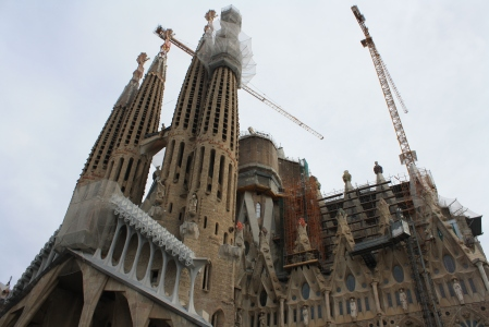I first traveled to Barcelona with a group of friends from Lausanne. We, of course, went to the Sagrada Familia. Although beautiful, the cathedral is overwhelming!