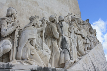 Along one of the harbors in Lisbon, there is an enormous monument dedicated to the explorers who set out on adventures to the New World. As our tour guide put it, the monument was directed at me.