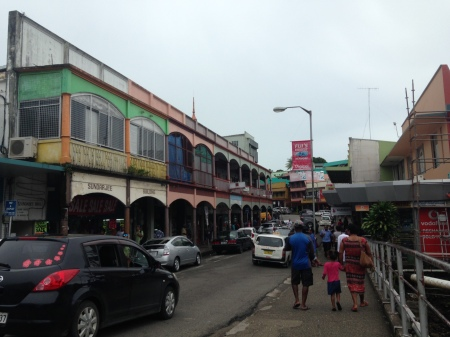 One of Suva's main streets