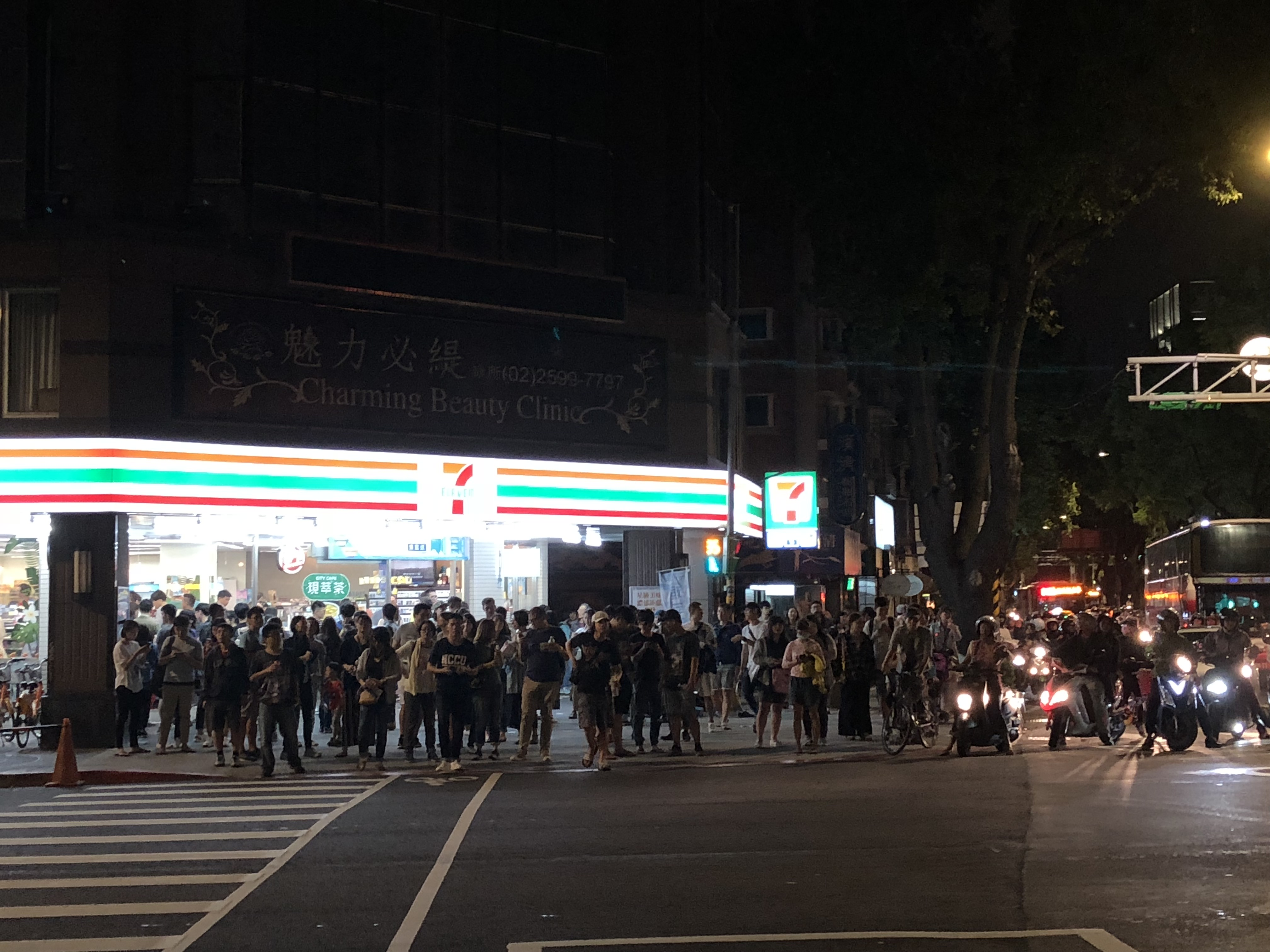 Crowded 7-Eleven