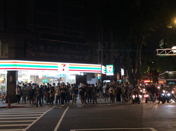 Crowded 7-Eleven